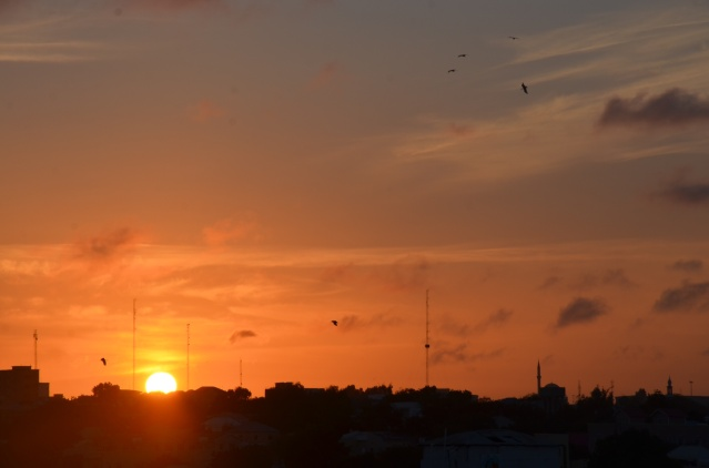 Sunset in Mogadishu