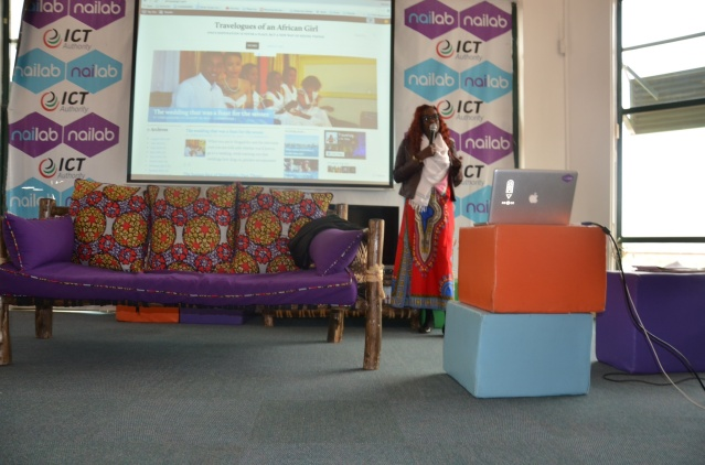 Giving a talk on travel at Nailab in Nairobi