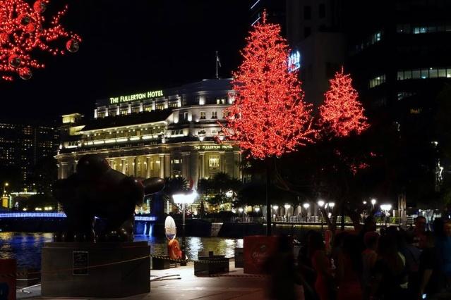 Christmas lights at Boat-quay, Singapore.