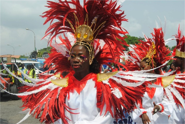 Girl at the Calabar Carnival, Calabar, Nigeria. (Credit: Jimnoh Babatunde)