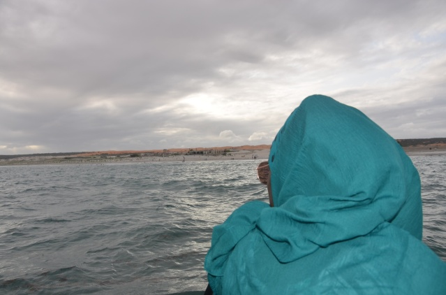 In a boat on the Indian Ocean, Mogadishu.