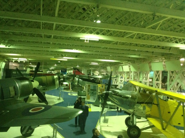 Old war planes at the British Royal Museum