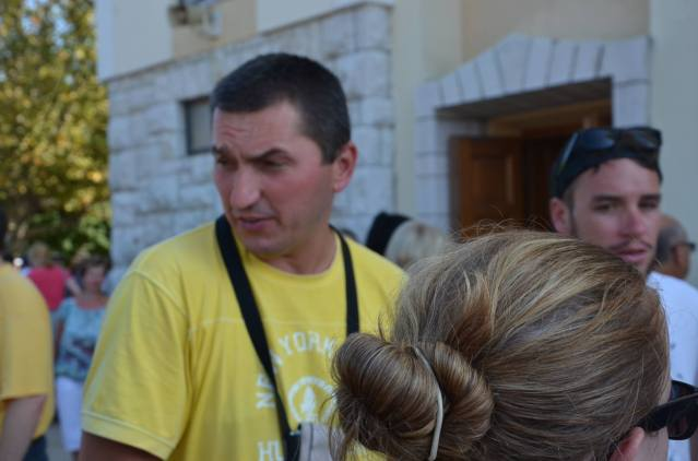 Our enthusiastic tour guide in Mostar, Bosnia and Herzegovina.