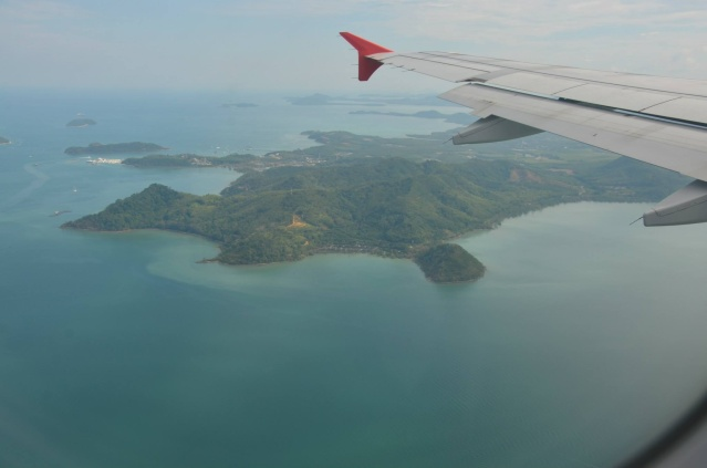 Our flight over the island of Phuket