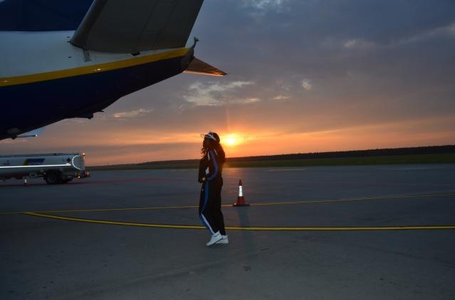 At Warsaw Modlin Airport.