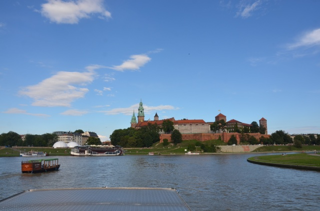 Wawel castle from a distance