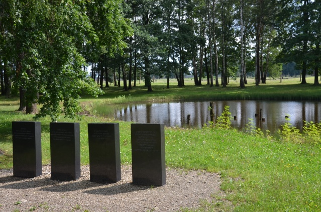 Plaques set up in the memory of those men, women and children who perished under the Nazi genocide.