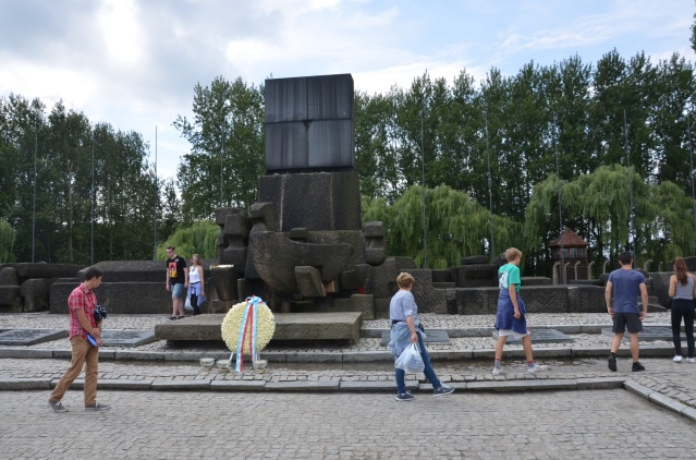 Memorial at Auschwitz camp