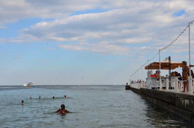Swimming in the Black Sea,Odessa.