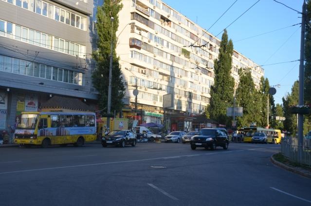 Public transportation in Kiev.