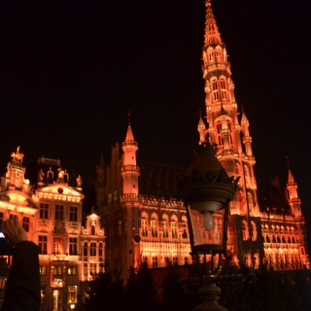 Sound and Light show, Grand Palace, Brussels.