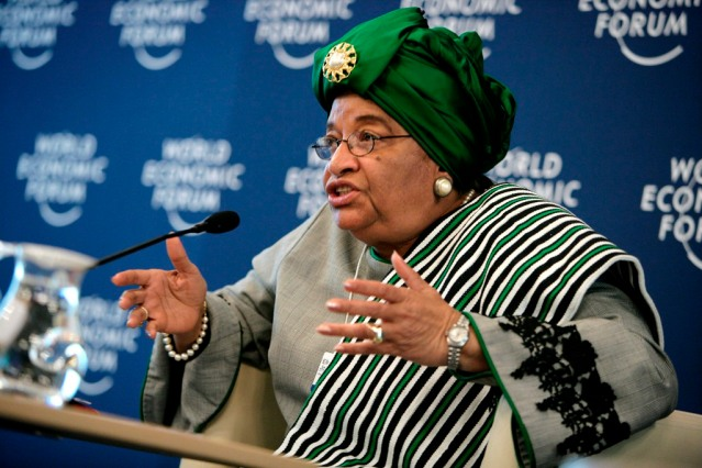 President Ellen Sirleaf of Liberia ( credit: http://newsfromafrica.org/tag/liberia)